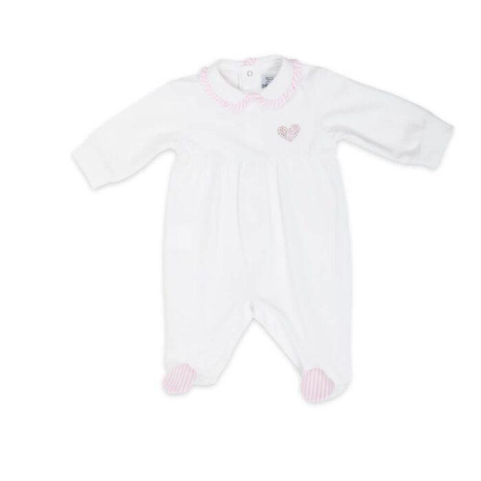 tutina-neonato-femmina-popeline-rigato-cuore-di-strass